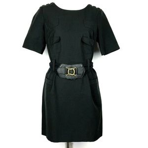 Phillip Lim Belted Black Dress